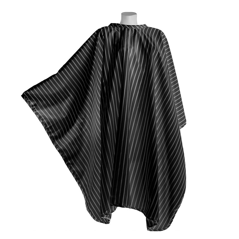 DMI BarberingCape_BlackPinstripe