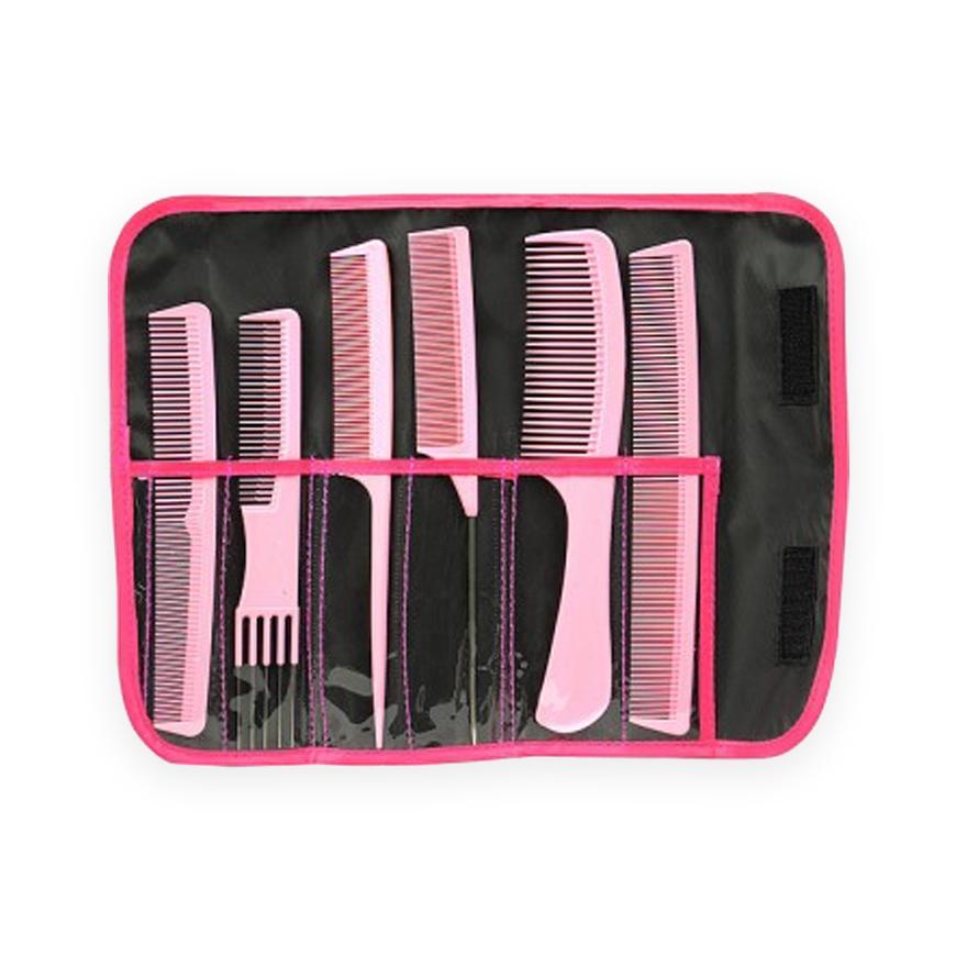 combank comb set pink